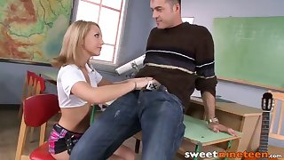 beautiful schoolgirl ass stretched by naughty music teacher