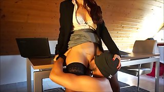 office licking slave